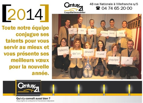Voeux 2014 Century 21 Coquillat Immobilier