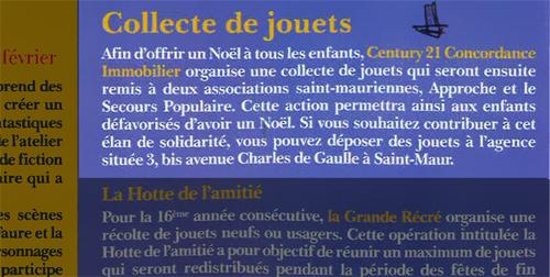 article de presse publié dans le journal de la mairie de Saint-Maur