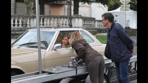 Emmanuelle DEVOS en tournage