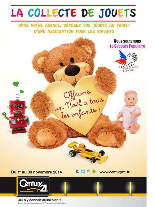 collecte de jouest century 21 help'immo 2015 secours populaire