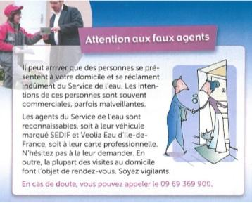 Attention aux faux agents