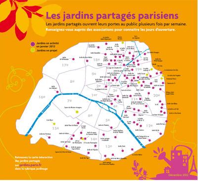CARTE DES JARDINS PARTAGES