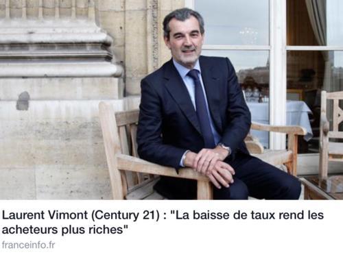 Century 21 Maison Sabot à Bouchemaine dit aux acquéreurs : la baisse des taux vous rend plus riches !