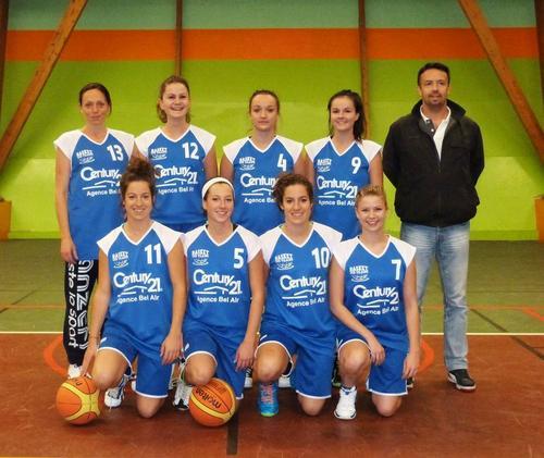 Equipe Sénior basket Sud Vilaine
