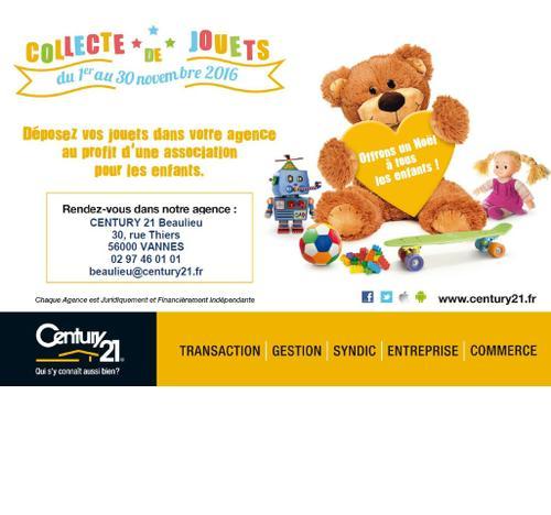 collecte de jouets century21 beaulieu