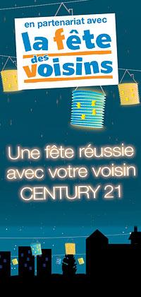 CENTURY 21 agence du Lac Ornex partenaire officiel de la fête des voisins
