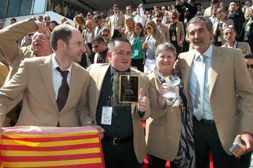 Nos deux prix avec Laurent Vimon Président C21 France