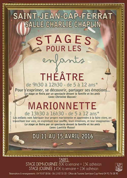 affiche stage de théâtre