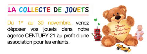collecte de jouets Century 21 Aix les Bains