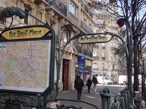 Métro Rue Saint-Maur Paris 11ème
