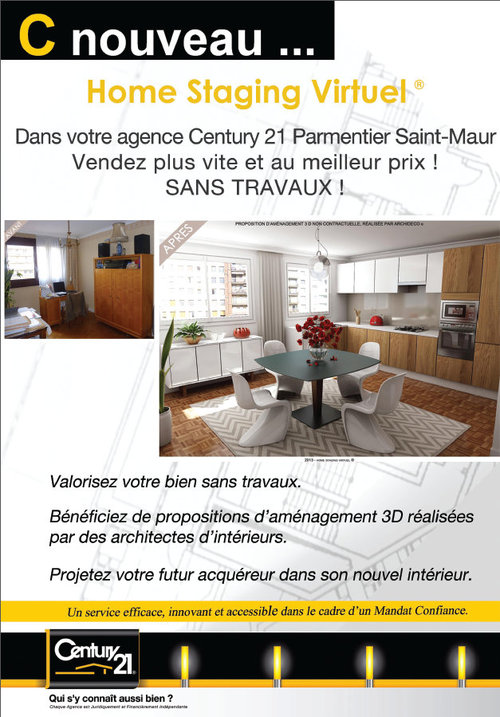 d couvrez une service efficace et innovant le home staging virtuel century 21 parmentier. Black Bedroom Furniture Sets. Home Design Ideas