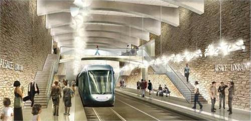 Futur arrêt de tramway à Nice