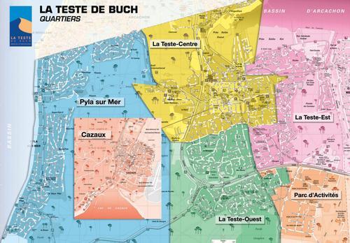 plan de la commune de la teste de buch