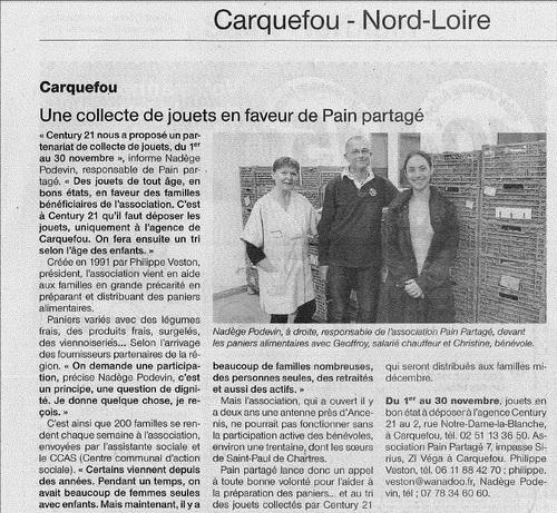 Article Ouest France du 6 novembre 2013