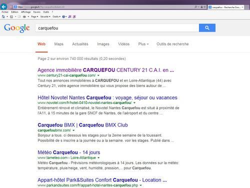 Agence immobilière Century 21 CAI sur Google