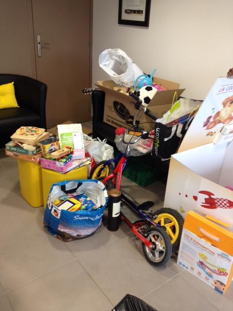 Les jouets récoltés dans votre agence immobilière Century 21 à Carquefou en 2014