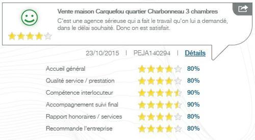 Avis client sur la vente d'une maison 3 chambres quartier du Charbonneau à Carquefou par l'agence Century 21 CAI