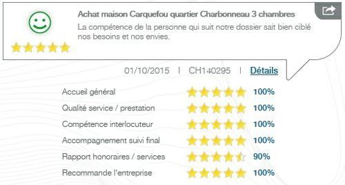 Avis client sur l'achat d'une maison 3 chambres quartier du Charbonneau à Carquefou par l'agence Century 21 CAI