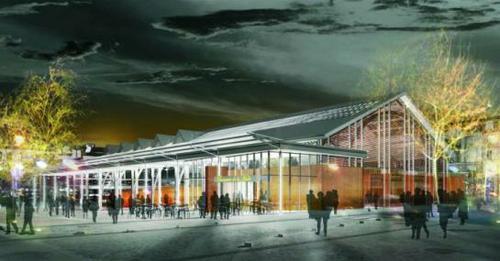 Le projet de la nouvelle halle couverte du marché de Noisy le Grand