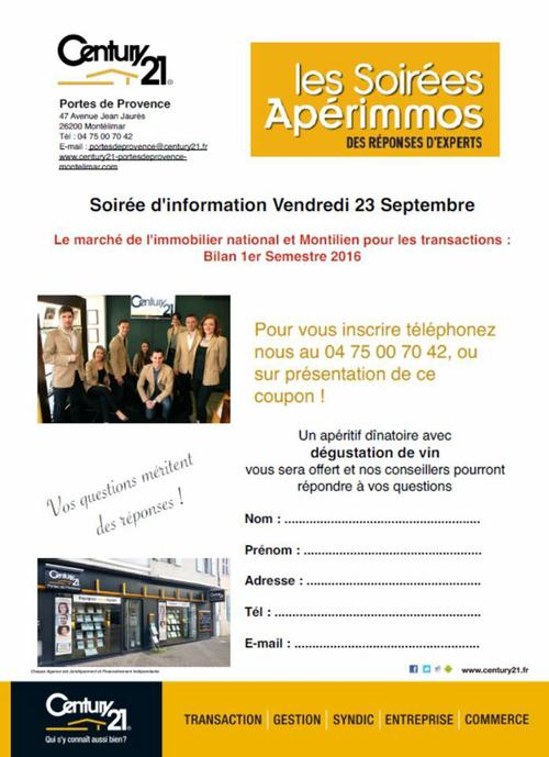 1er aperimmo century 21 portes de provence agence for Agence immobiliere montelimar