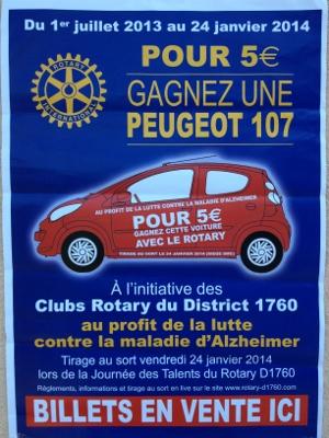 affiche Rotary lutte contre la maladie d'Alzheimer