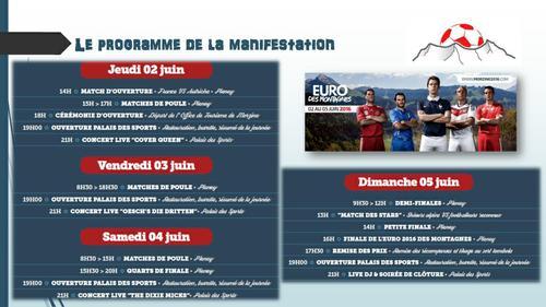 Programme Euro des Montagnes