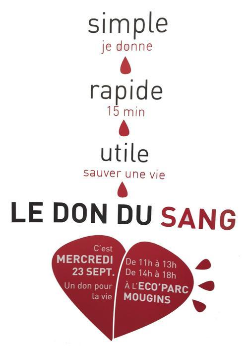 Don du sang Mougins 2015