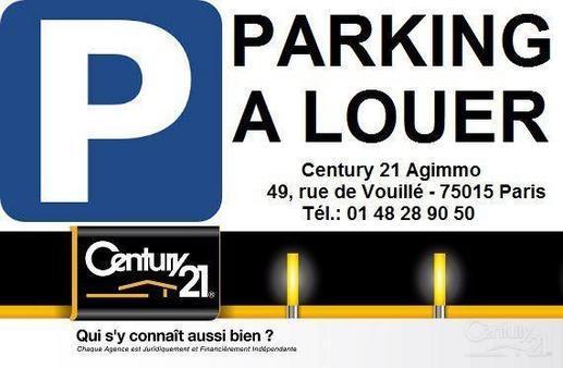Parking à louer - 11 m2 - PARIS - 75015 - ILE-DE-FRANCE