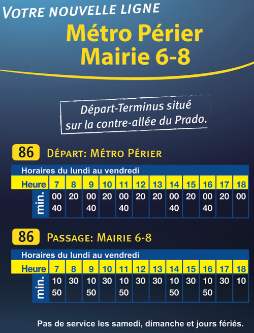 BUS: Nouvelle ligne 86 - Métro Périer 13008 – CENTURY 21 Can ...