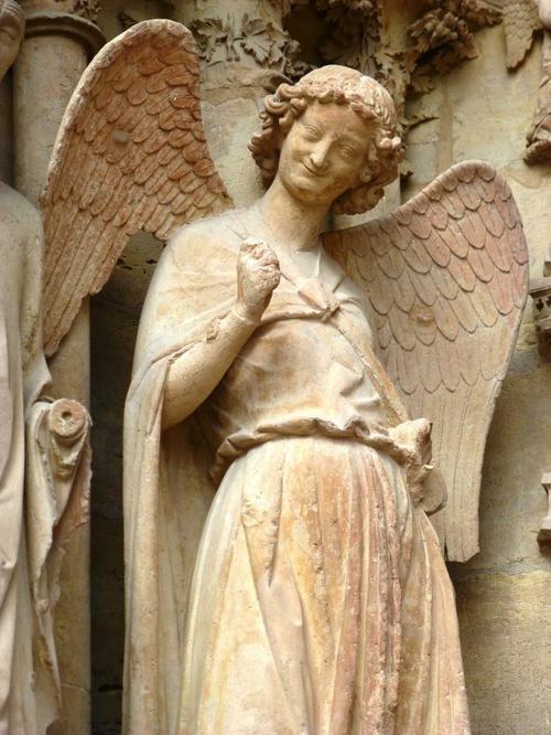 Ange au sourire de la cathédrale Notre Dame de Reims