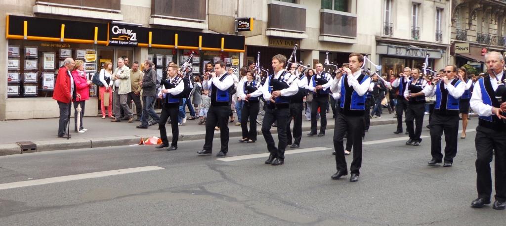 Défilé des Bretons rue Lecourbe Paris 15