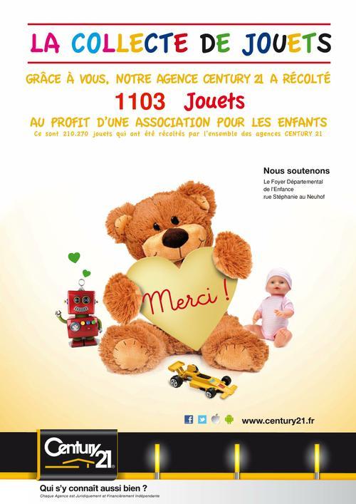 Collecte jouets century 21 etoile neudorf