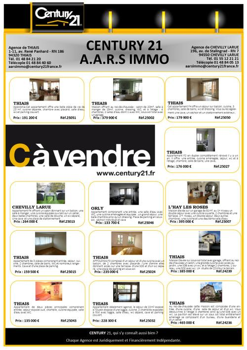thiais selection century 21 aars immo avril immobilier exclusivité