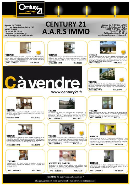 thiais immobilier aars immo century 21