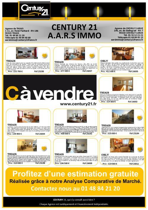 Thiais appartement maison a vendre century 21 aars immo thiais chevilly 94