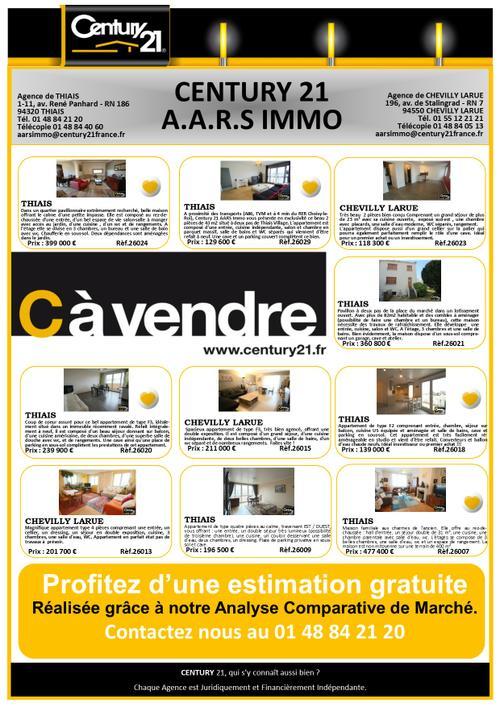 thiais immobilier appartement maison a vendre century 21 aars immo