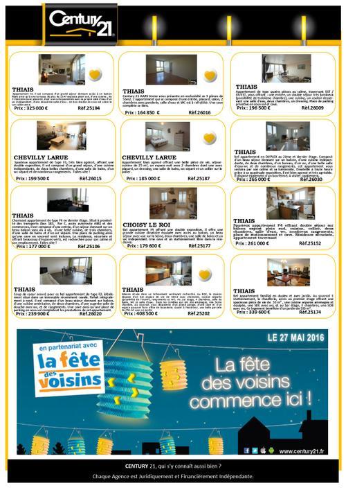 thiais appartement maison a vendre acheter immobilier century 21 aars immo
