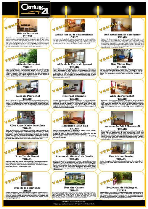 thiais immobilier appartement maison vendu prix m² century 21 aars immo exmple