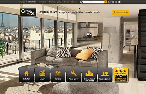 RHINOV réalise le fond d'écran 3D du site century21.fr
