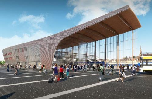 Lorient et son nouveau quartier de la gare l 39 odyss e for Lorient piscine